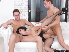 Nubile DPed by two businessmen
